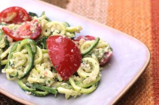 1519527646 zucchini noodles with lime pesto 310x205 - Zucchini Noodles with Lime Pesto